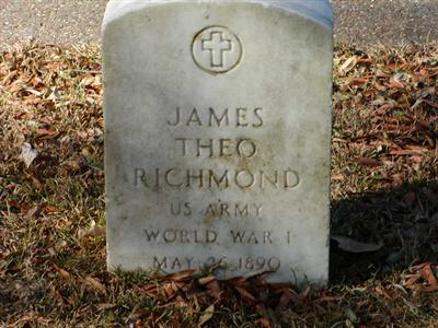 Ted Richmond's headstone, Rosehill Cemetery, Texarkana, TX.